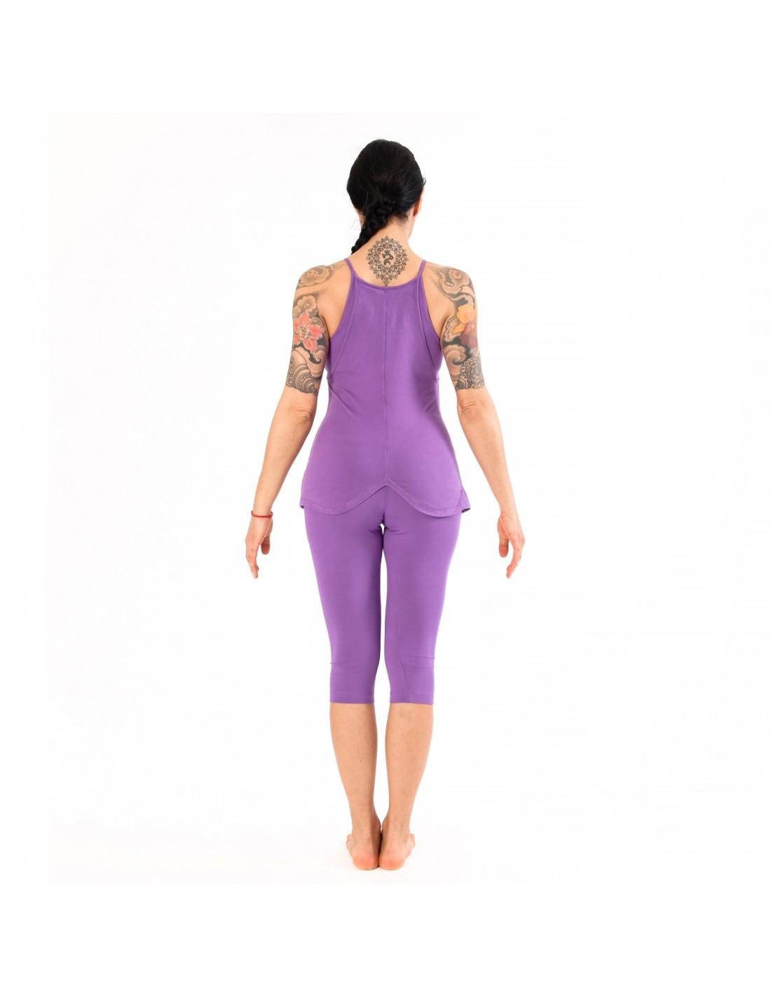Violet Short Yoga Leggings Sahasrara Yogaessential