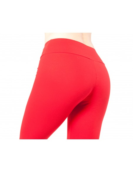 High-waist Red capri Yoga short Leggings MULADHARA - Chakra
