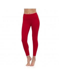 High-waist red yoga long Leggings MULADHARA - Chakra
