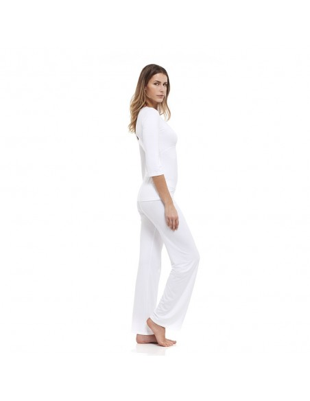 B-Soul White Top with kimono styled sleeves- Relax