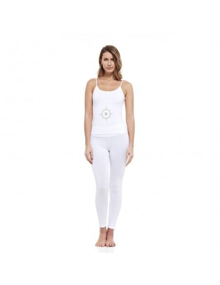 Completo: canotta yoga young + legging vita alta (bianco)