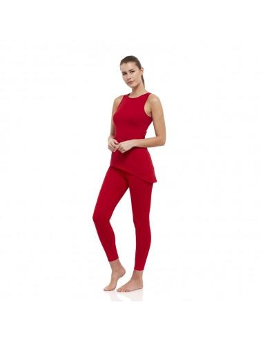 Completo Muladhara: canotta yoga muladhara + legging vita alta muladhara (rosso)