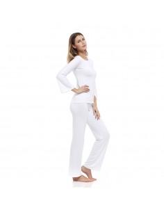 Costume de détente blanc: chemise Barchetta + pantalon