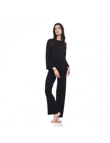 Completo Relax Nero: Maglia Barchetta + Pantaloni