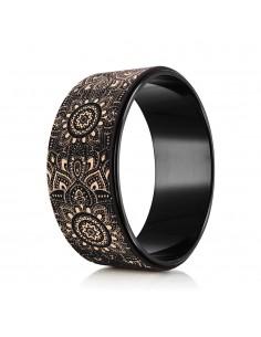 Mandala Black Yoga Wheel - YDL