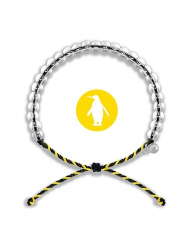 Bracciale 4Ocean Pinguino - Edizione Limitata Nero e Giallo