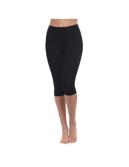 Vita alta - leggings Yoga Corto Nero - Yoga Essential